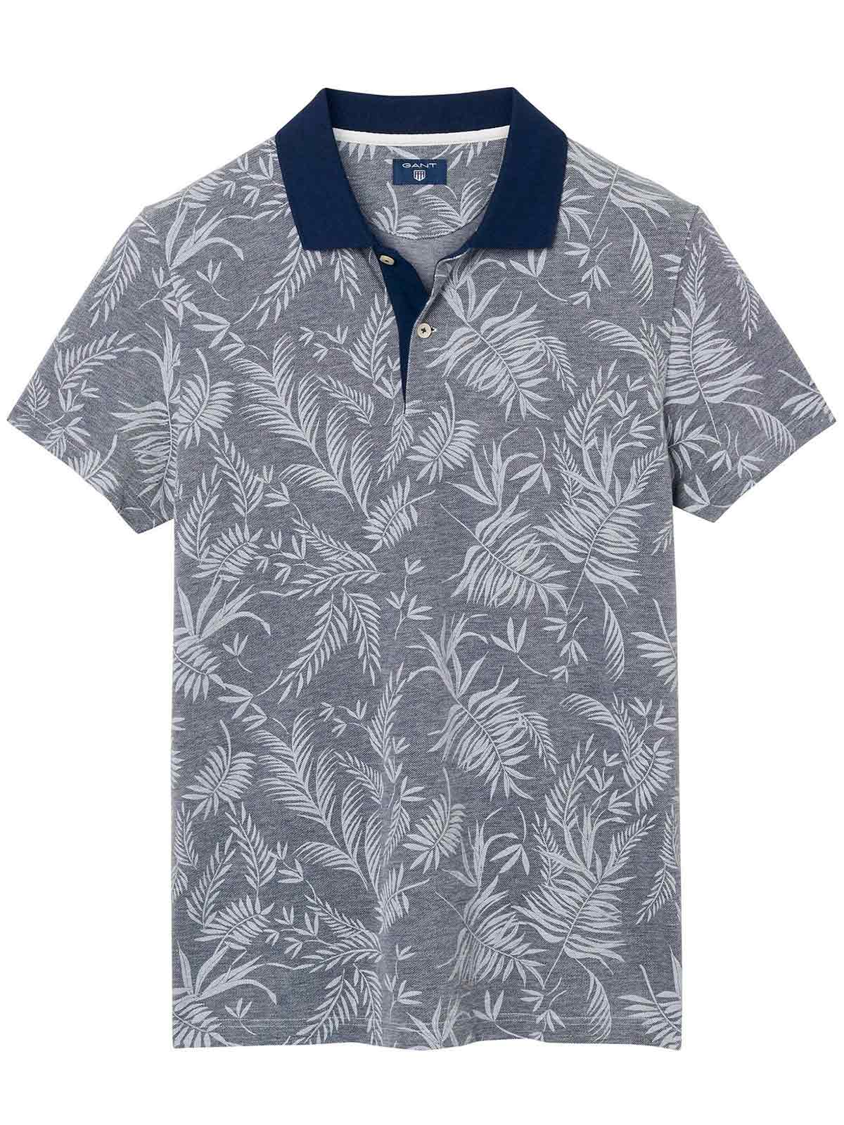 Picture of GANT | Men's Leaf Print Polo Shirt