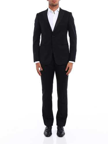 Picture of ARMANI | Virgin Wool Tuxedo Suit