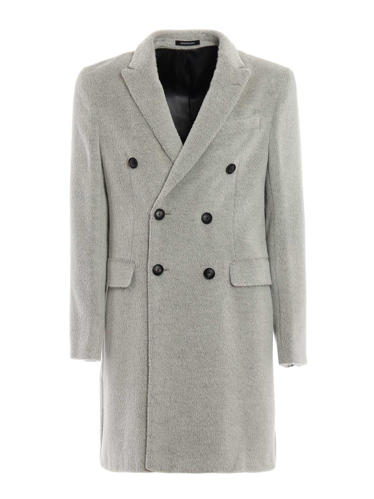 Picture of EMPORIO ARMANI | Men's Alpaca Wool Coat