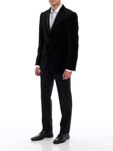 Picture of EMPORIO ARMANI | Men's Satin Band Trousers