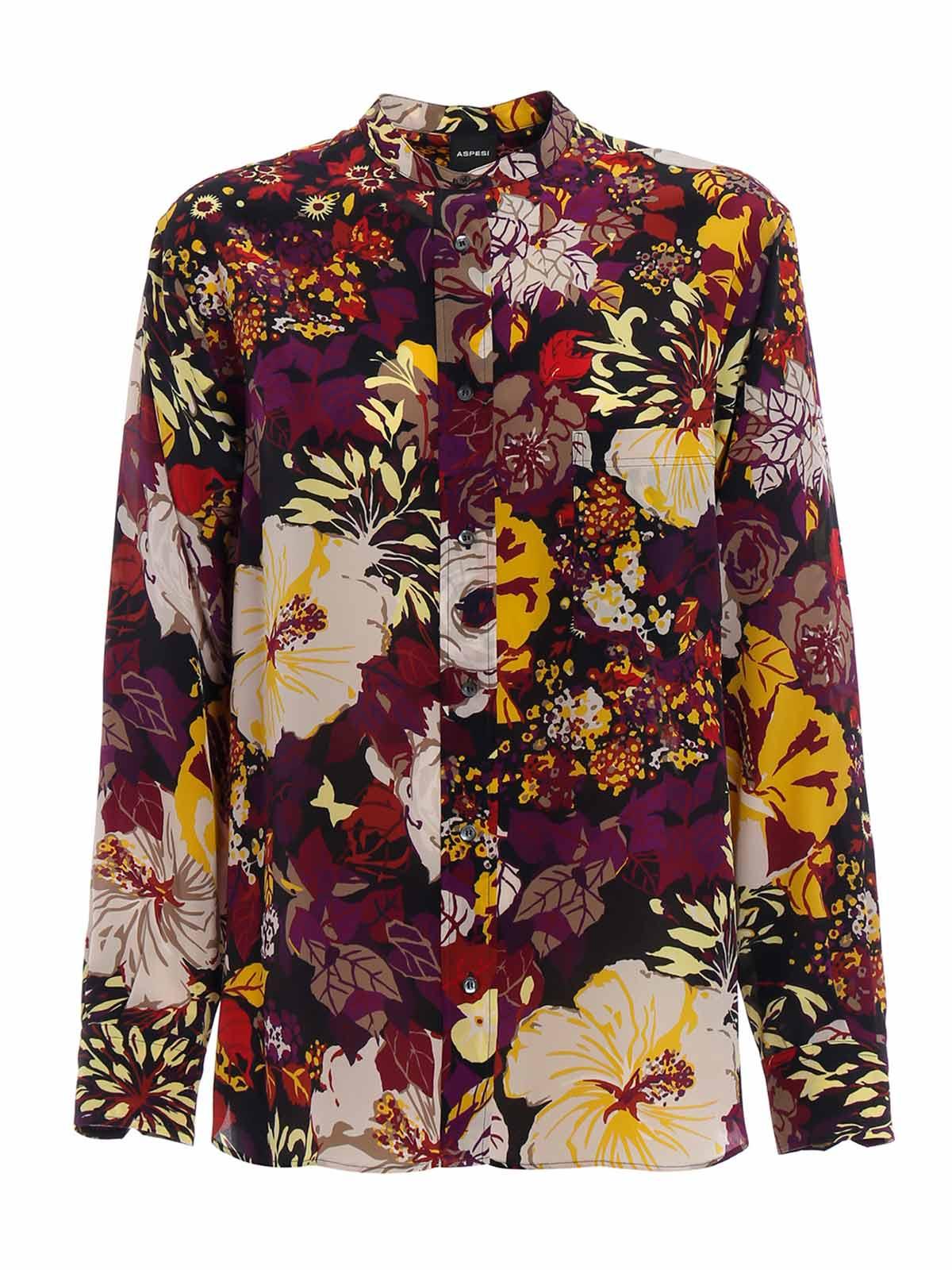 Picture of ASPESI | Women's Printed Silk Shirt