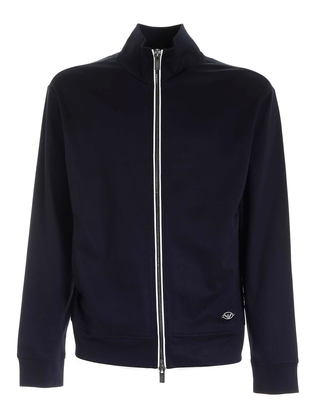 Picture of EMPORIO ARMANI | Men's Full Zip Viscose Sweatshirt