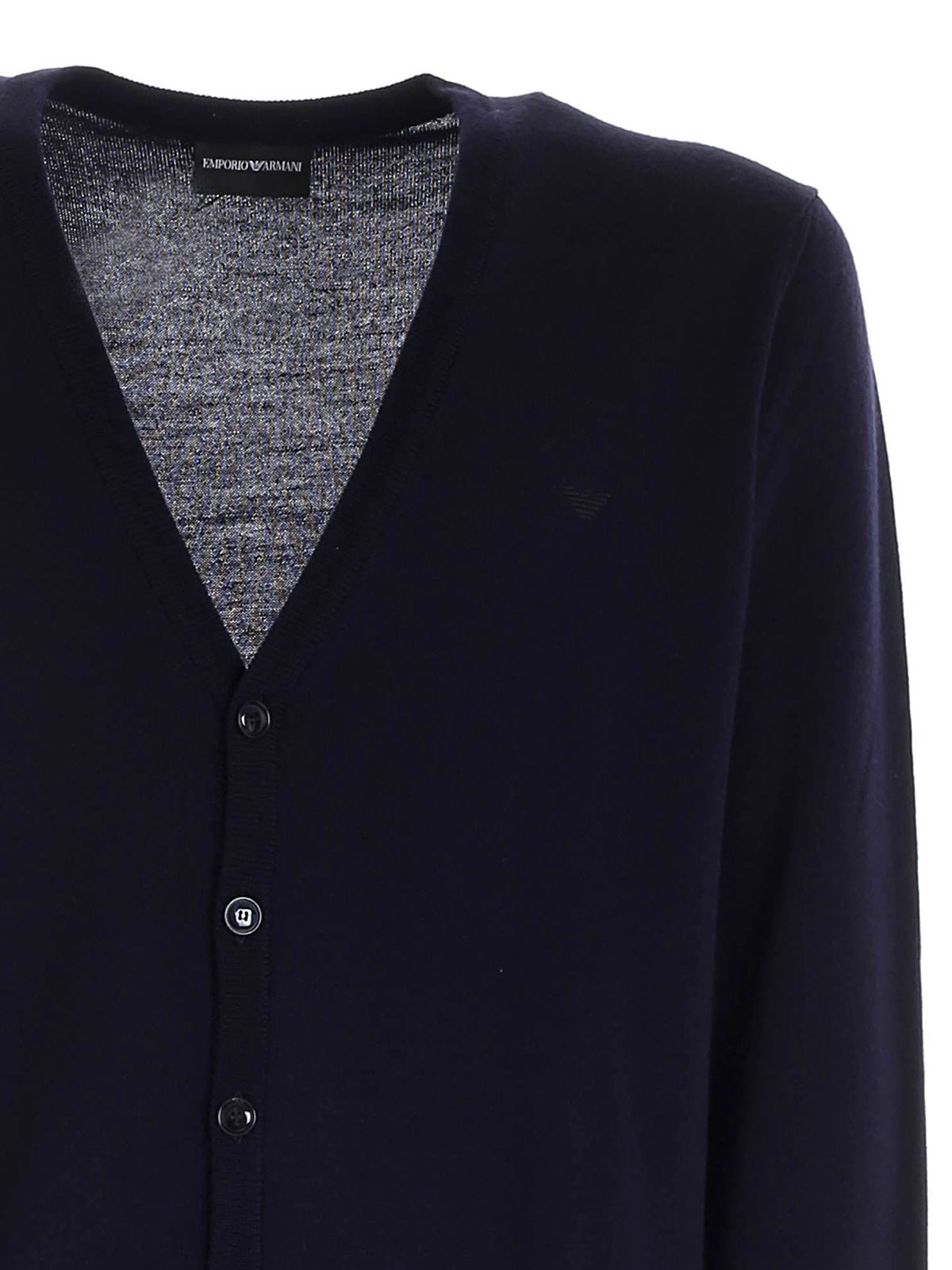 Picture of EMPORIO ARMANI | Men's Virgin Wool Cardigan
