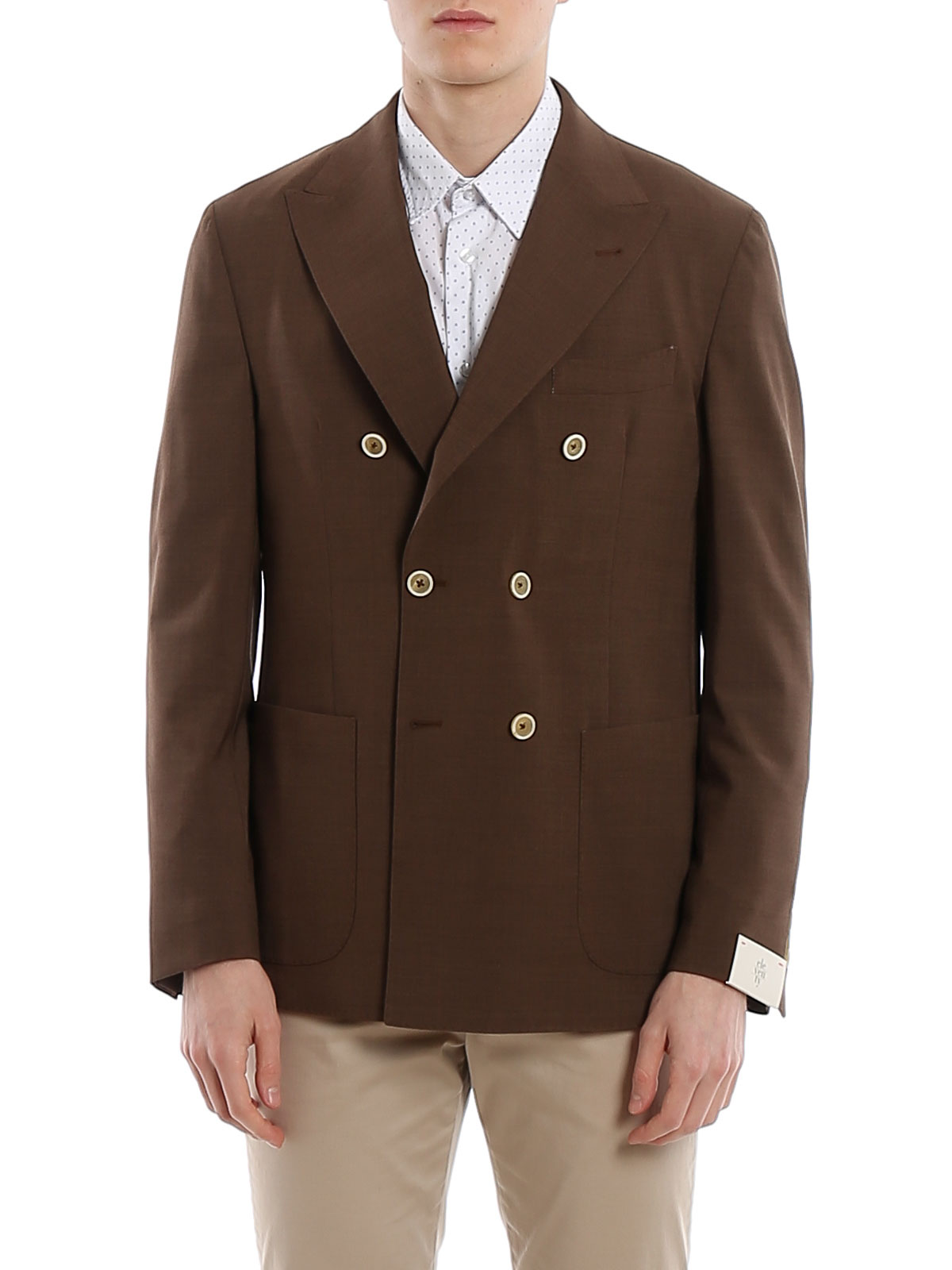 Picture of ELEVENTY   Men's Double-Breasted Wool Blazer