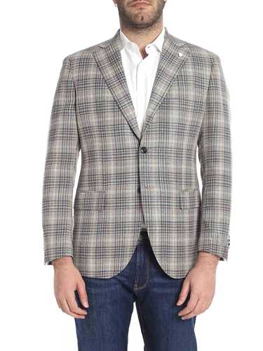 Picture of LUIGI BIANCHI MANTOVA | Men's Tartan Blazer