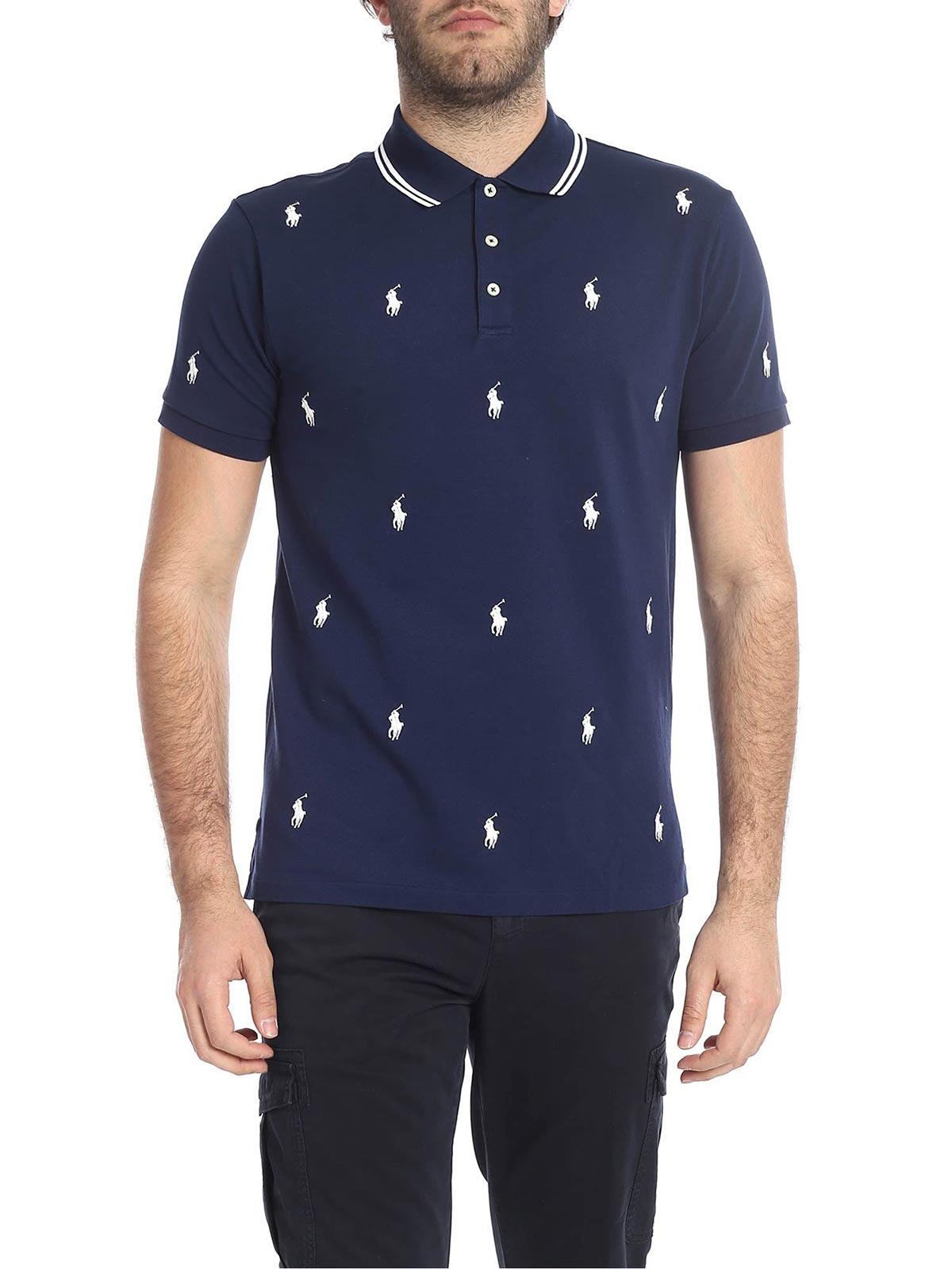 Picture of POLO RALPH LAUREN | Men's Allover Logo Polo Shirt
