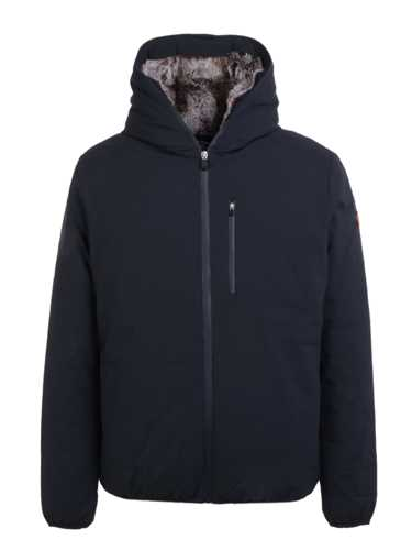 Picture of SAVE THE DUCK | Men's Down Jacket with Eco Fur D3795M