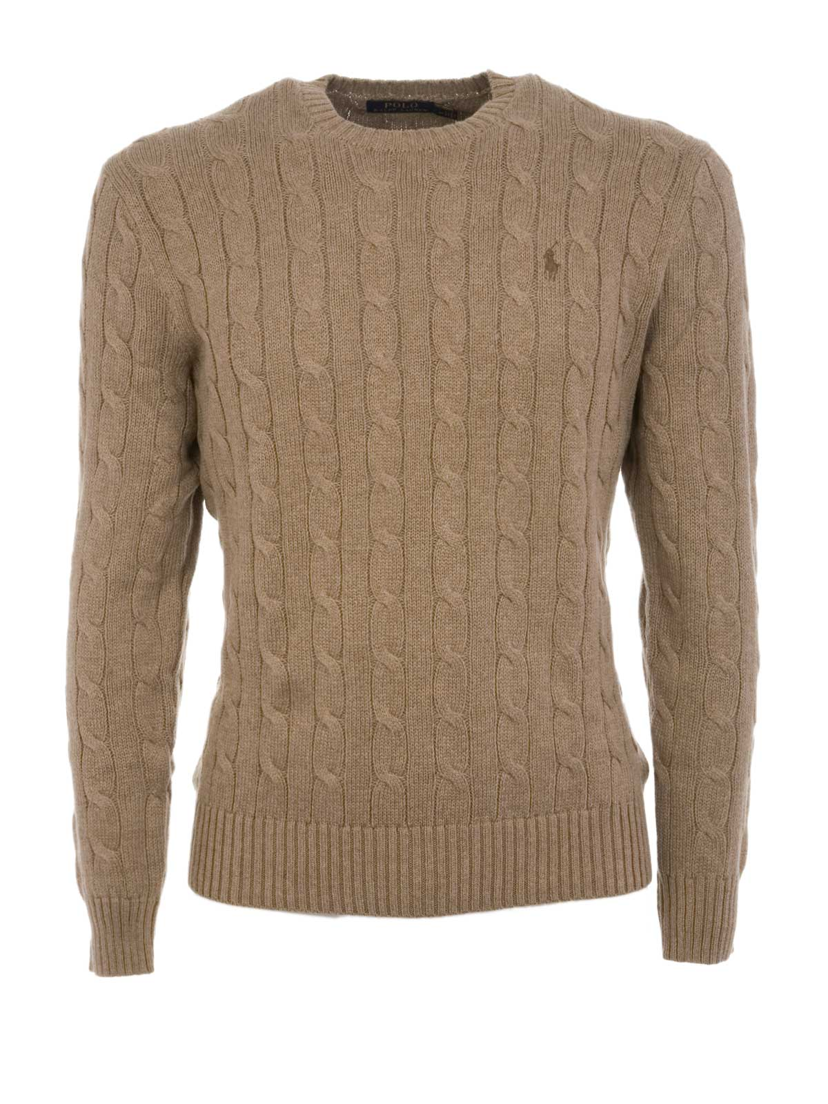 4940124d6435 POLO RALPH LAUREN Cable-Knit Cotone Sweater Fall Sand Heather ...