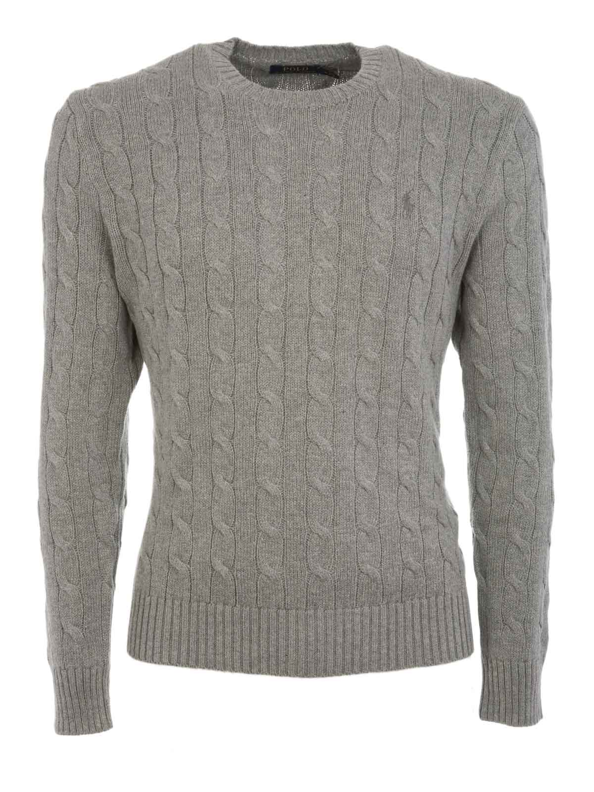 7930db340444 POLO RALPH LAUREN Cable-Knit Cotone Sweater Andover Heather ...