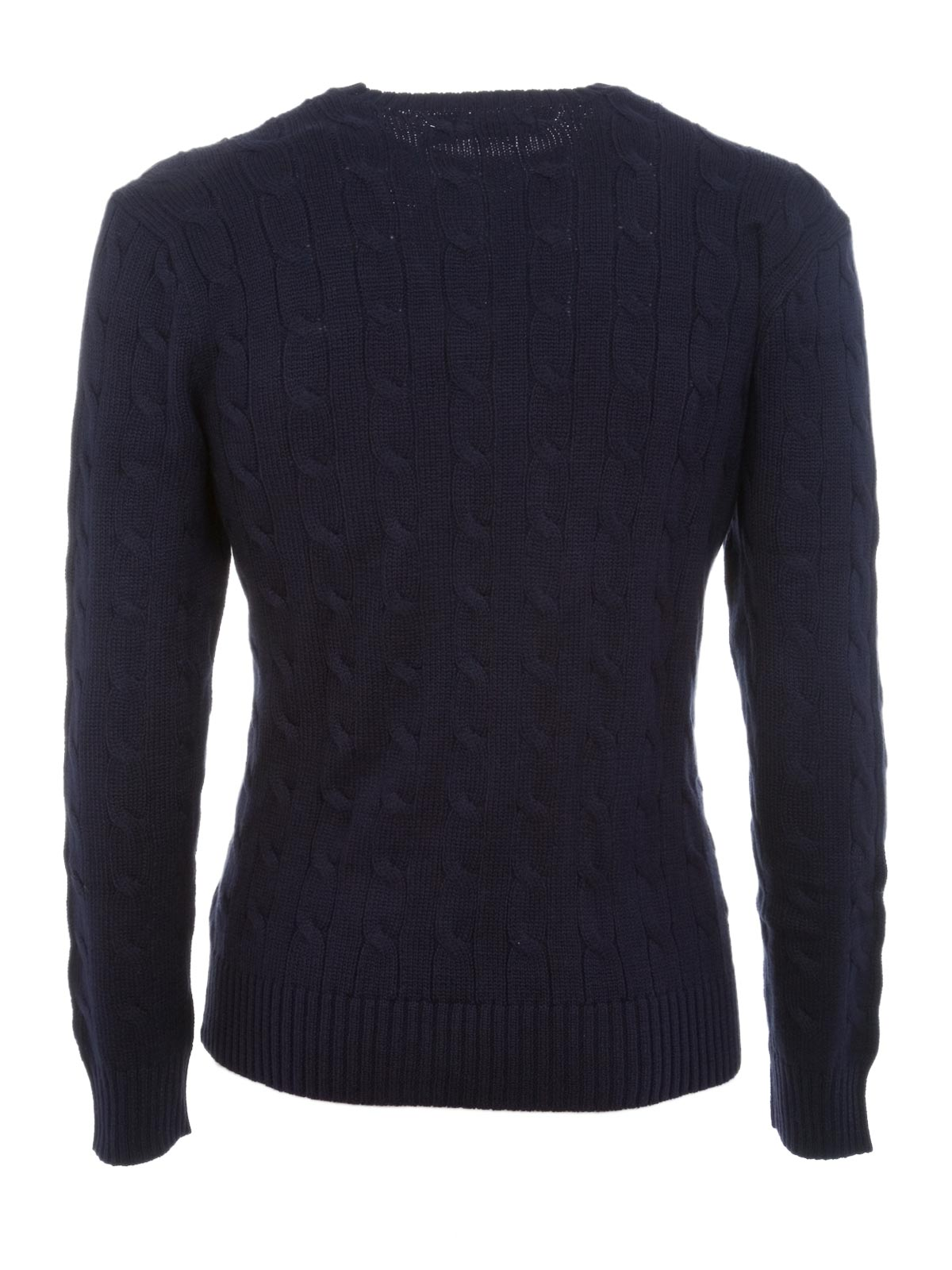 POLO RALPH LAUREN Cable-Knit Cotone Sweater Hunter Navy | Polo ...