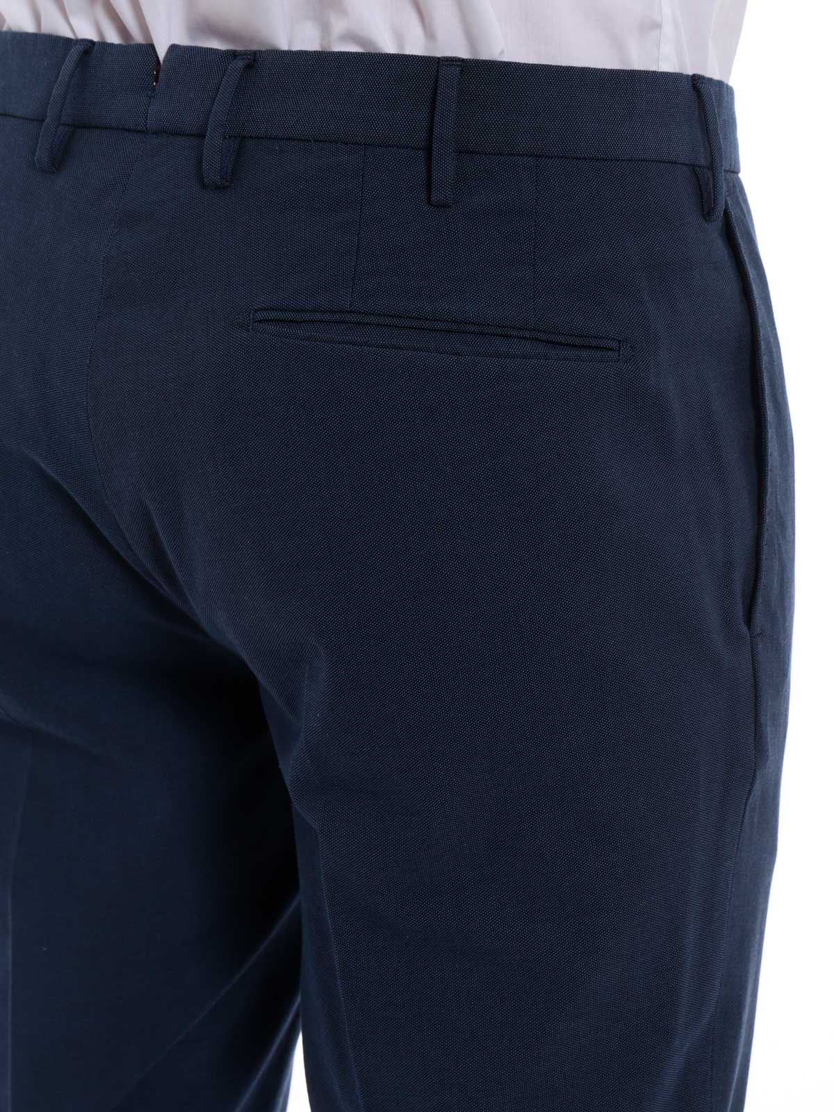 Picture of INCOTEX | Men's Cotton Jacquard Trousers