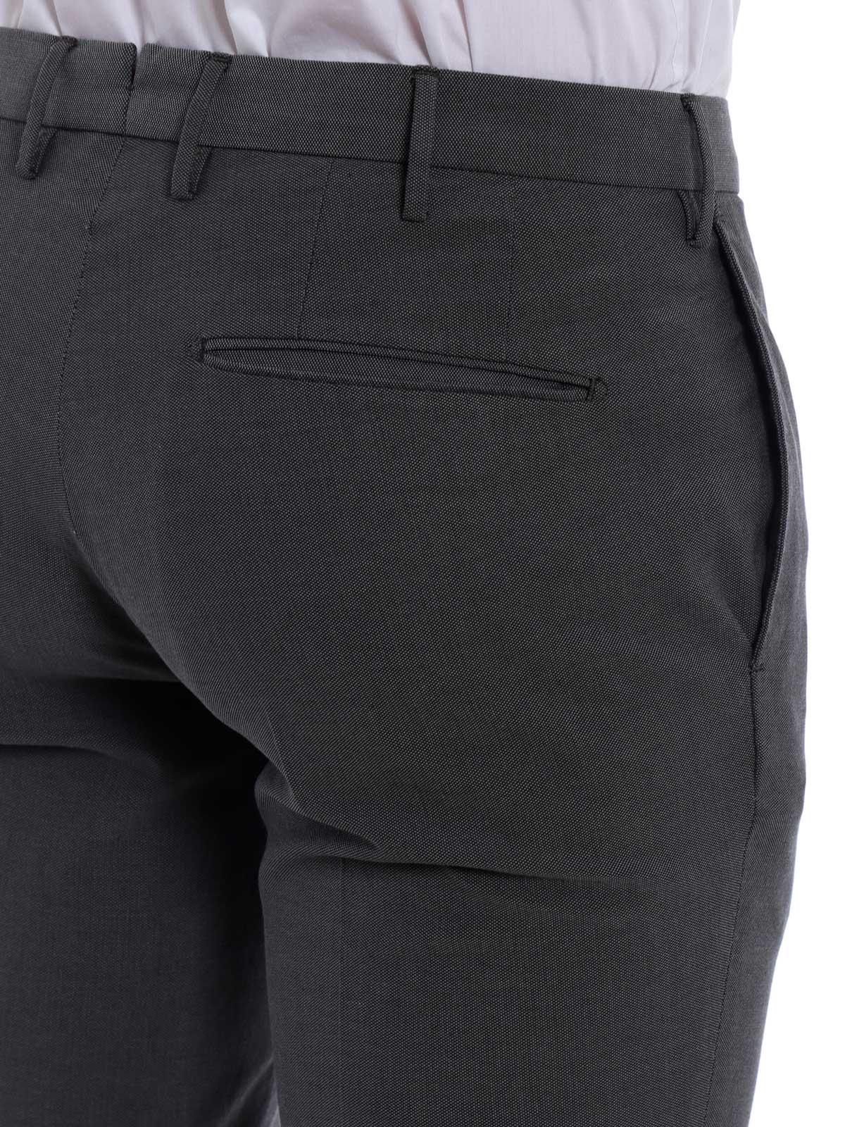 Picture of INCOTEX   Men's Cotton Jacquard Trousers