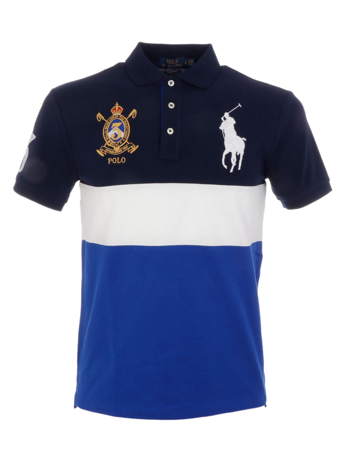 c2190423 POLO RALPH LAUREN Men's Striped Polo Shirt Blue-Mu | 710694701001 ...