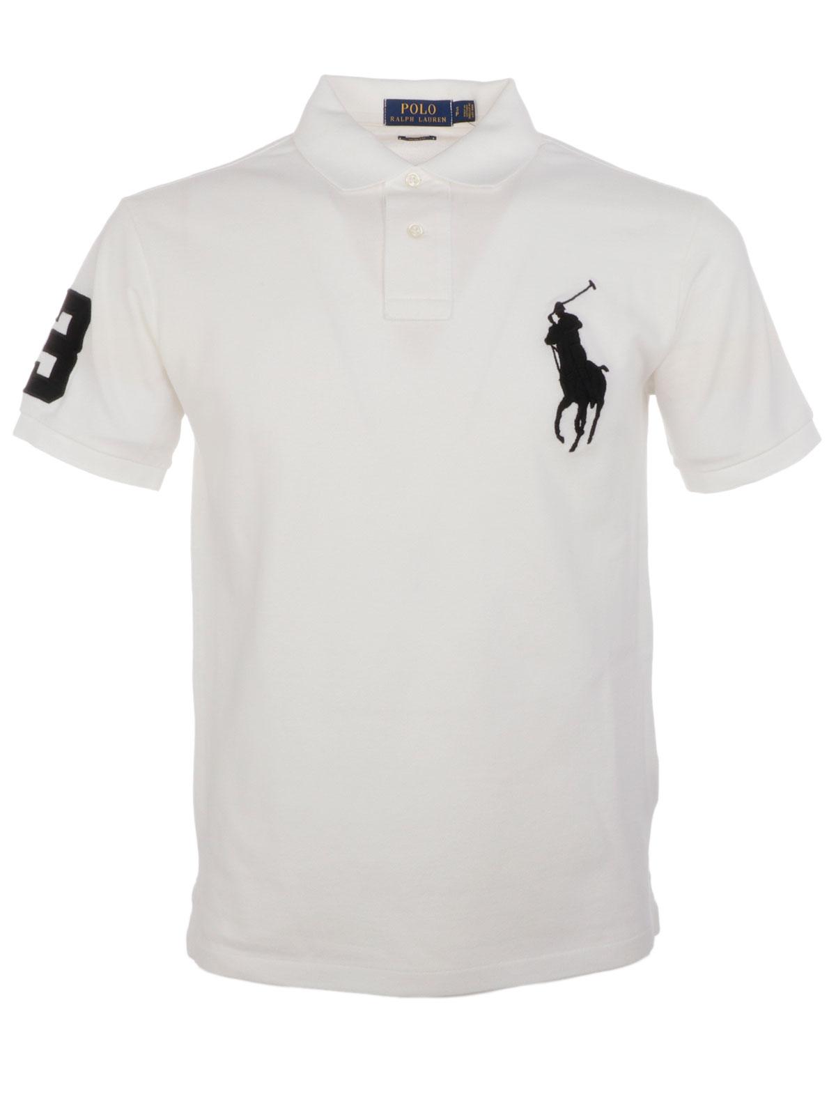 62b9b0afc POLO RALPH LAUREN Men s Maxi Logo Polo Shirt White