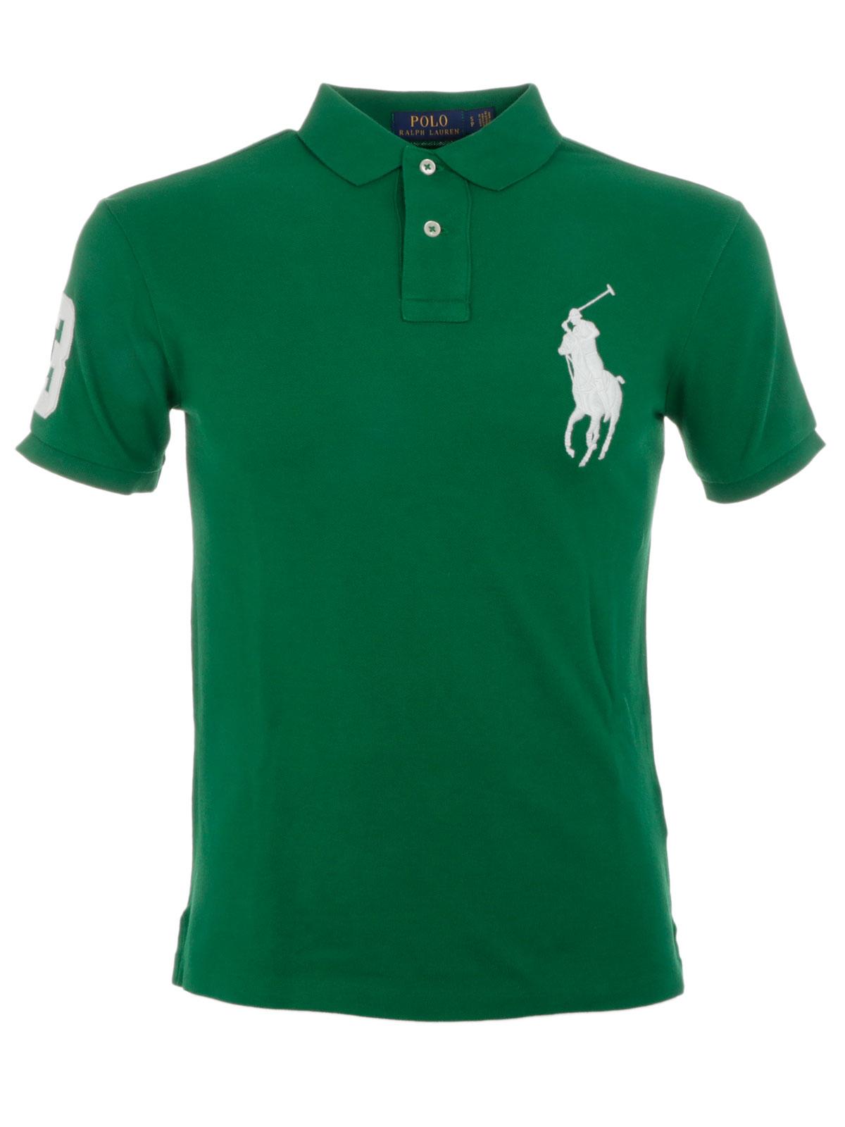 3a810e902 POLO RALPH LAUREN Men s Maxi Logo Polo Shirt Green