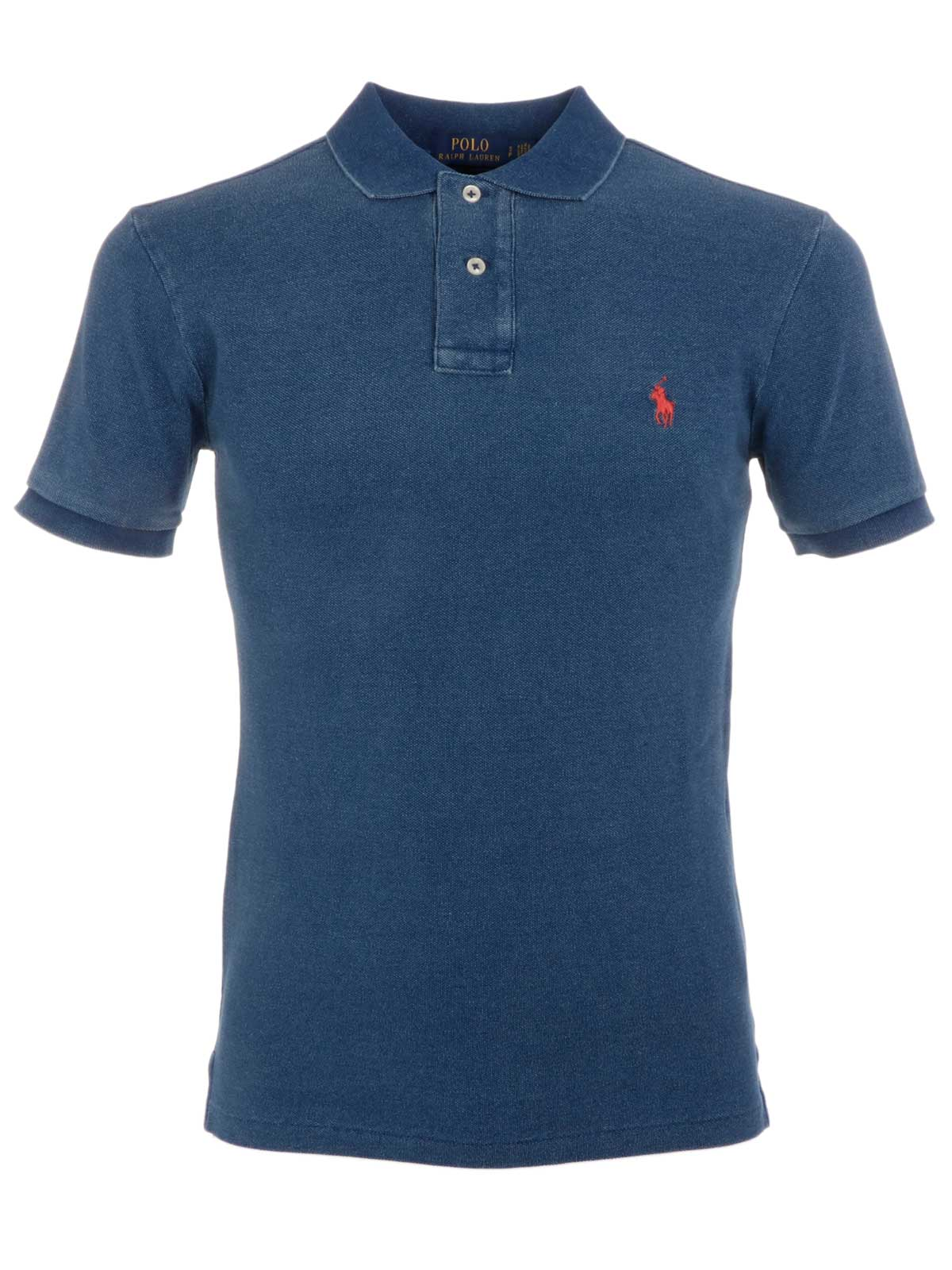 e50ed7701ae49 POLO RALPH LAUREN Men s Cotton Polo Shirt Washed Indigo ...
