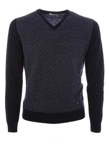 Picture of BROOKSFIELD | Jacquard Bouclé V-Neck Sweater