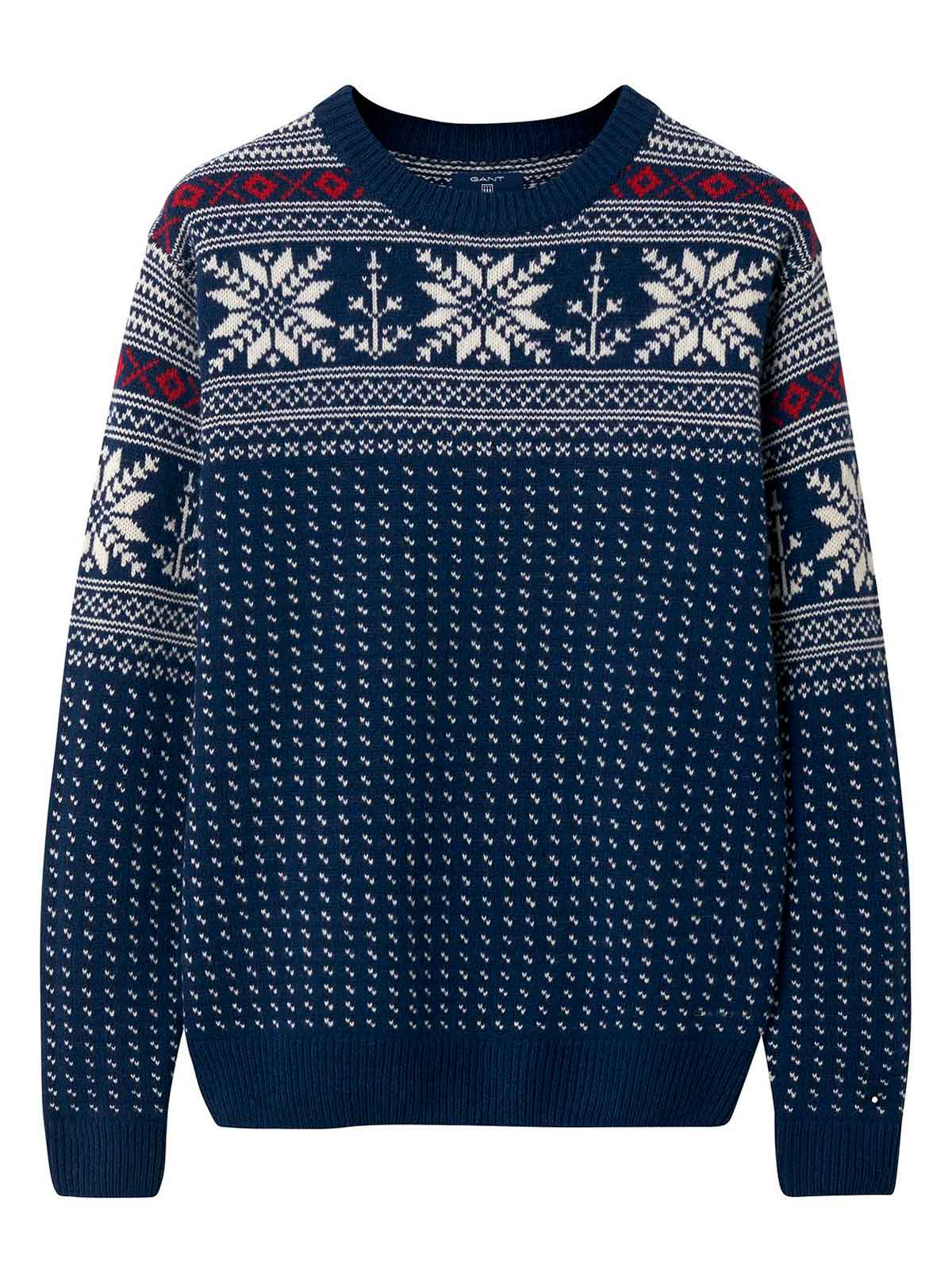 Picture of GANT | Men's Christmas Crew Sweater
