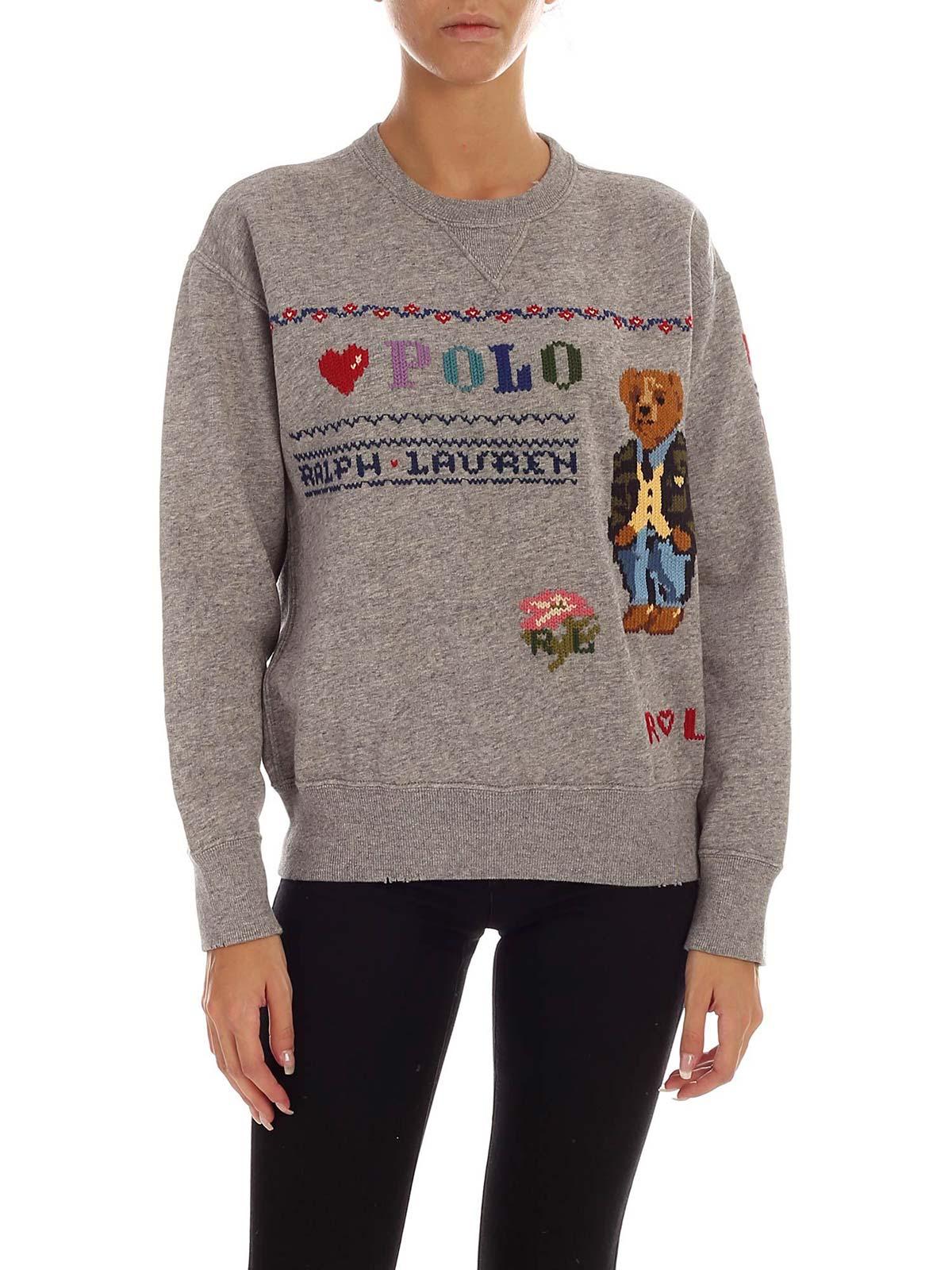 Picture of POLO RALPH LAUREN | Women's Polo Bear Embroidery Sweatshirt