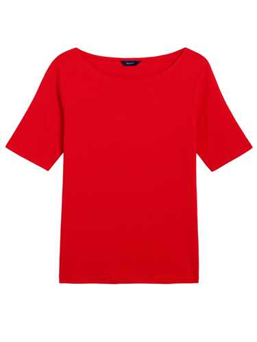 Picture of GANT | T-SHIRT O1. COTT/ELA BOATNECK TOP