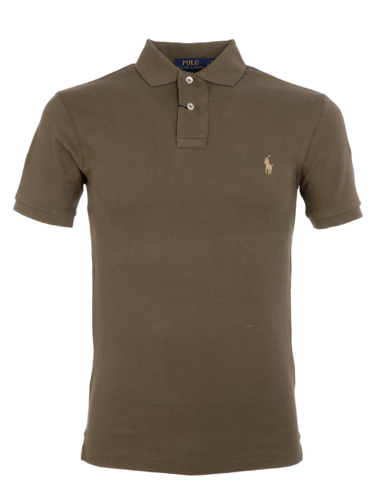 e7c55943e418a POLO RALPH LAUREN Men s Slim Fit Polo Shirt Olive Green ...