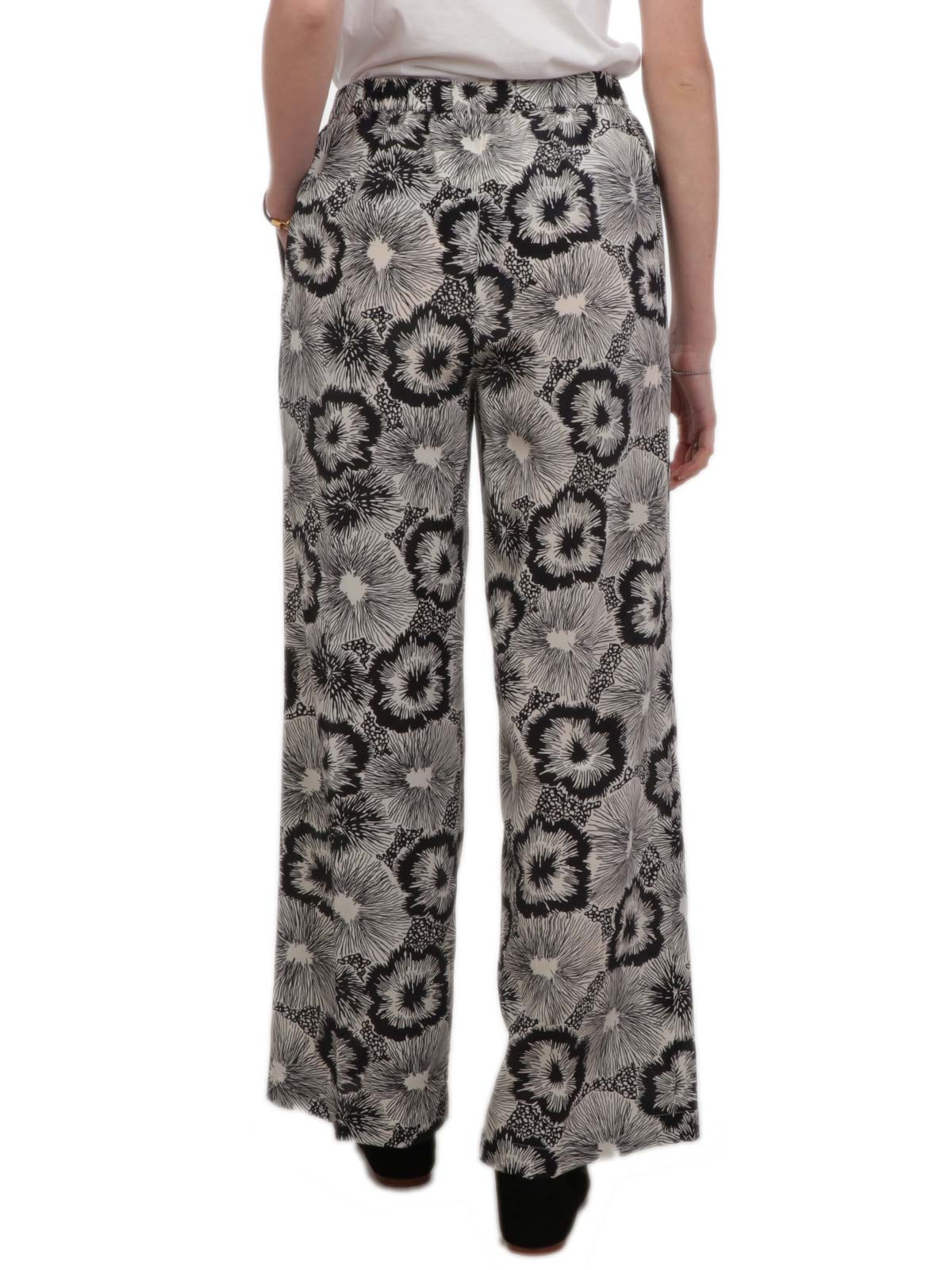 Picture of ASPESI | Women's Printed Pants in Crepe de Chine