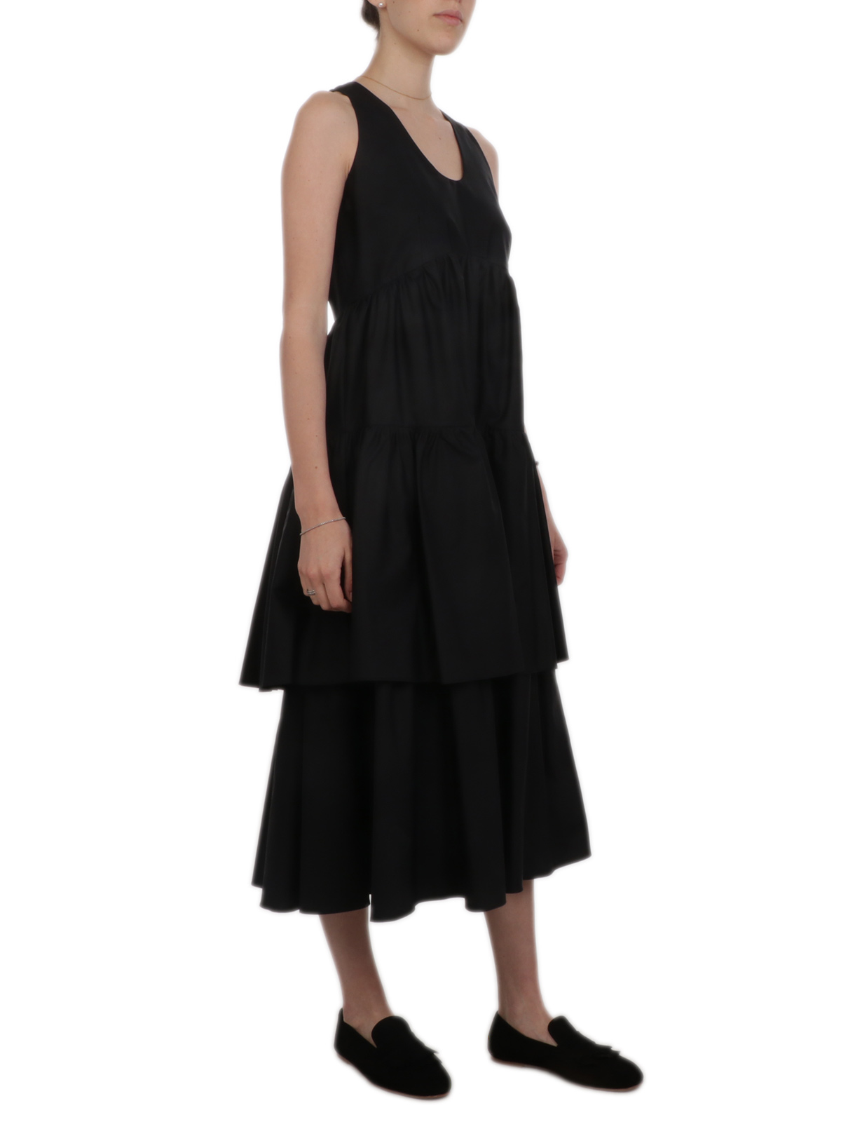 Picture of ASPESI | Women's Tiered Ruffle Dress
