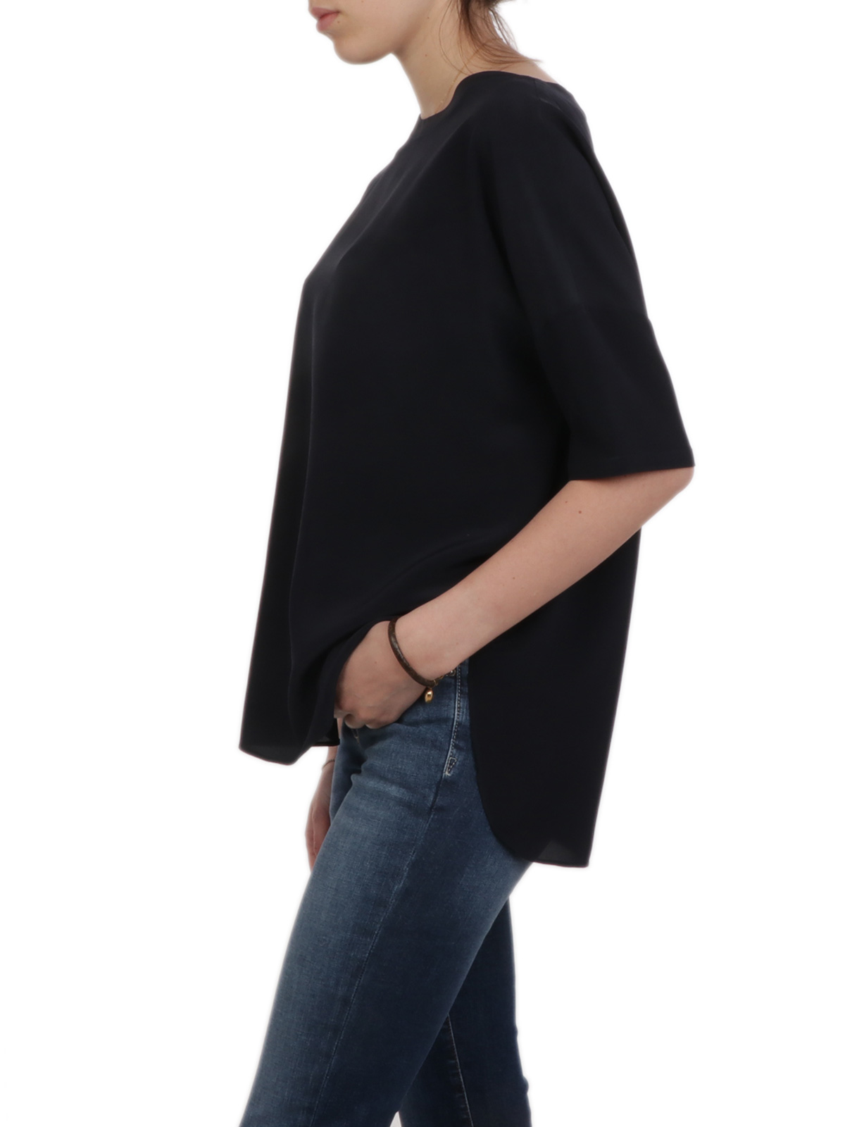 Picture of ASPESI | Women's Crepe de Chine Top