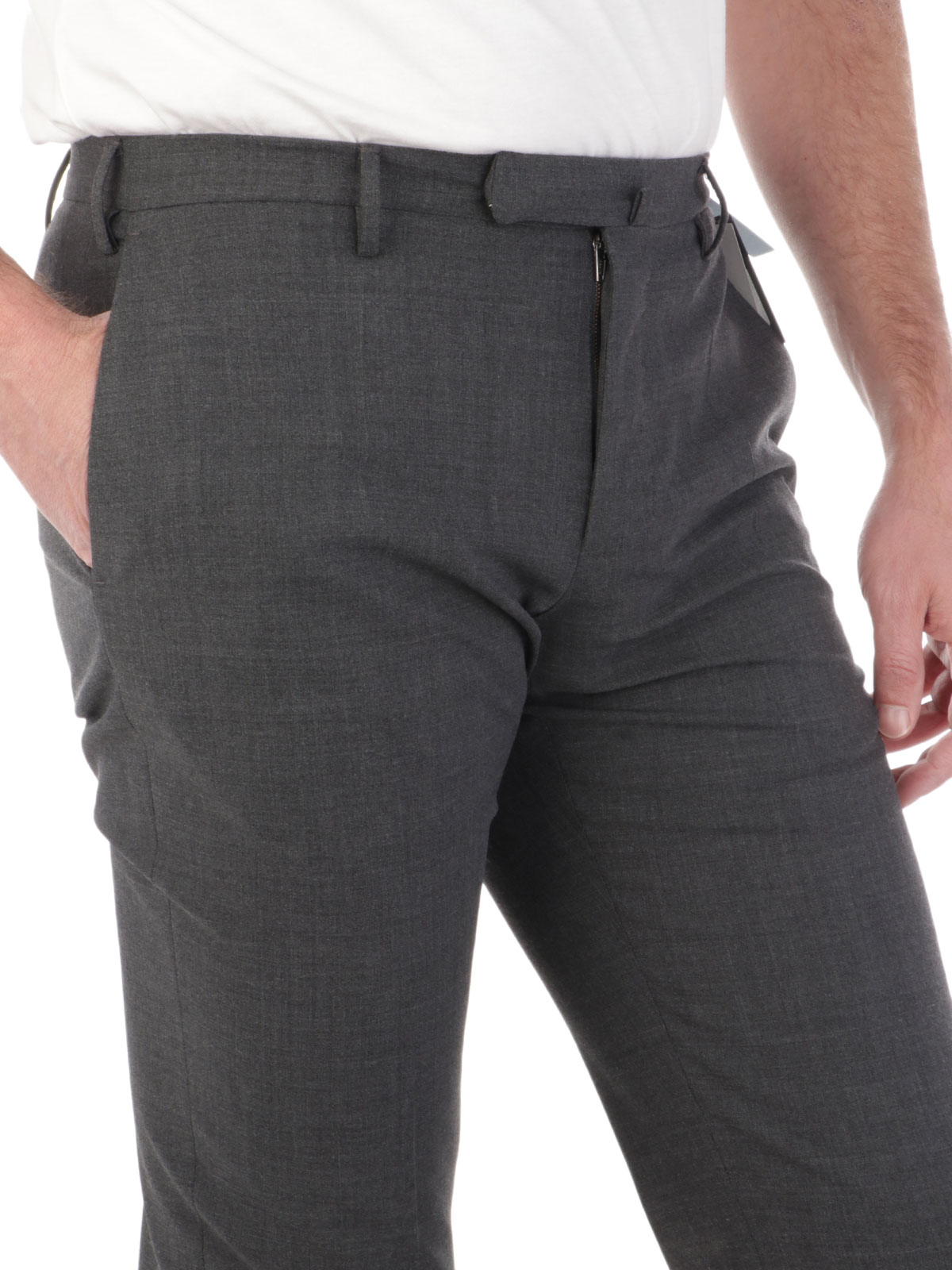 Picture of INCOTEX | Men's Wool Slim Fit Trousers