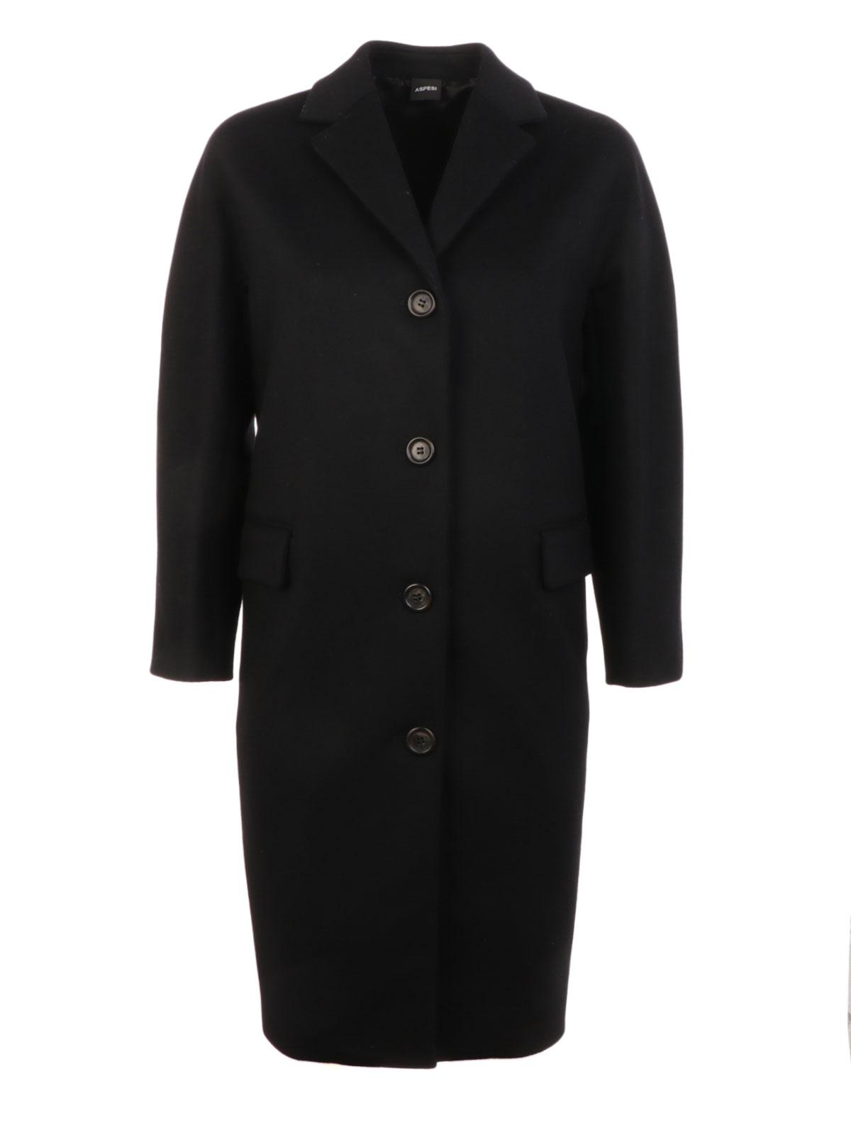 detailed look 689e1 b255d ASPESI Women's Cashmere Wool Coat