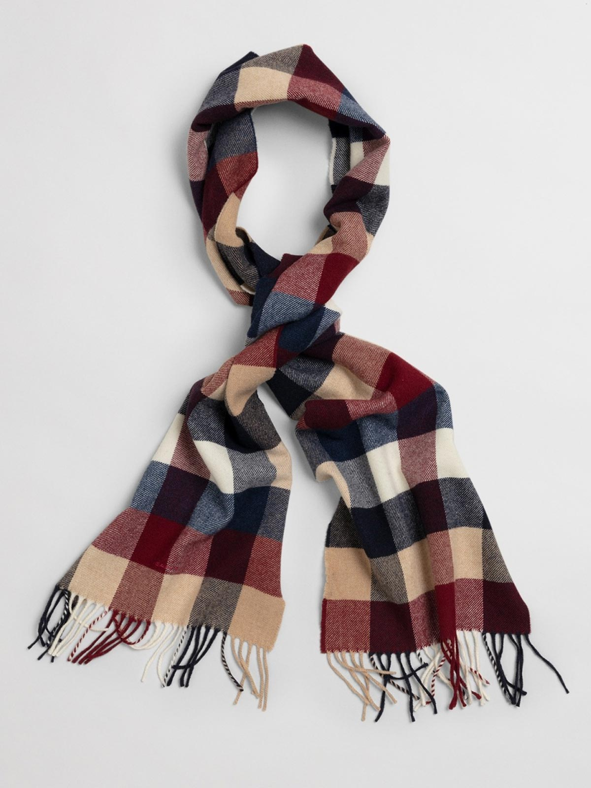 Picture of Gant | Scarf D2. Multi Check Wool Scarf