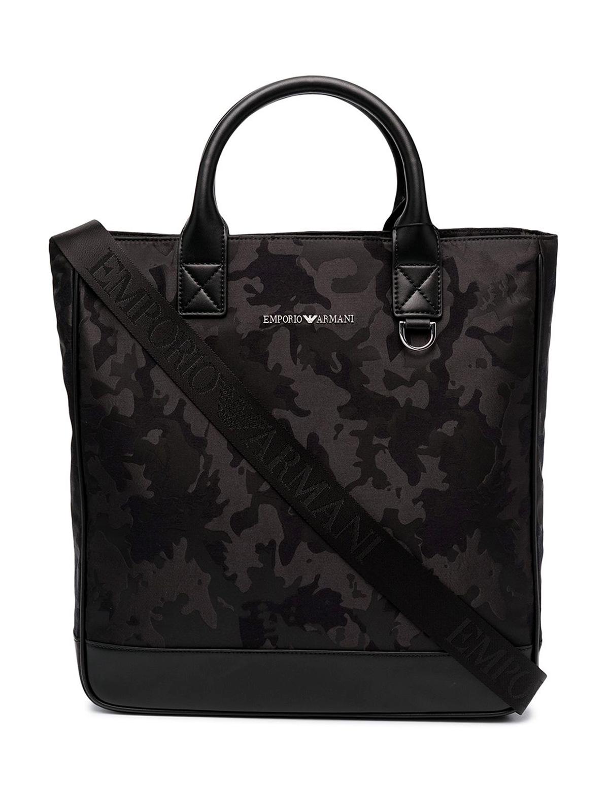 Picture of EMPORIO ARMANI | Men's Jacquard Camouflage Shopper