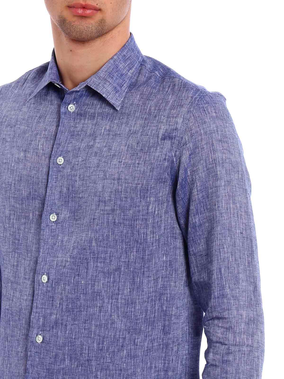Picture of EMPORIO ARMANI | Men's Linen Shirt