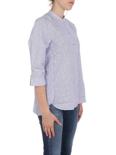 Picture of CALIBAN | Women's Striped Mandarin Collar Shirt