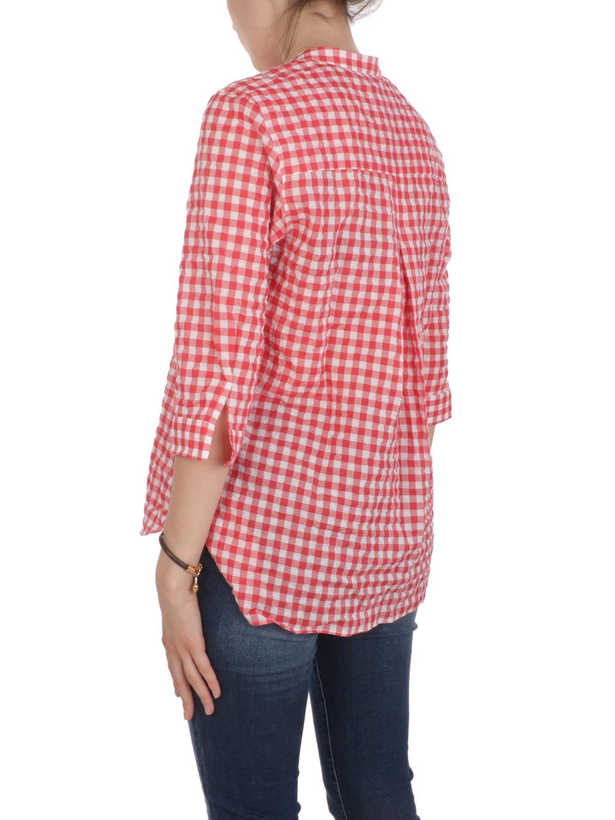 Picture of CALIBAN   Women's Checked Mandarin Collar Shirt