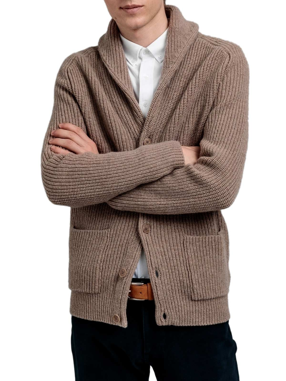 Picture of Gant   Jersey D1. Shawl Rib Cardigan