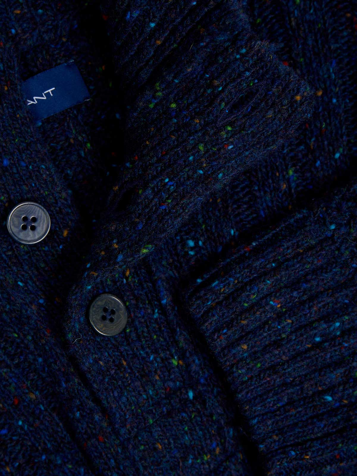 Picture of Gant | Jersey D2. Neps Buttons Mock Neck