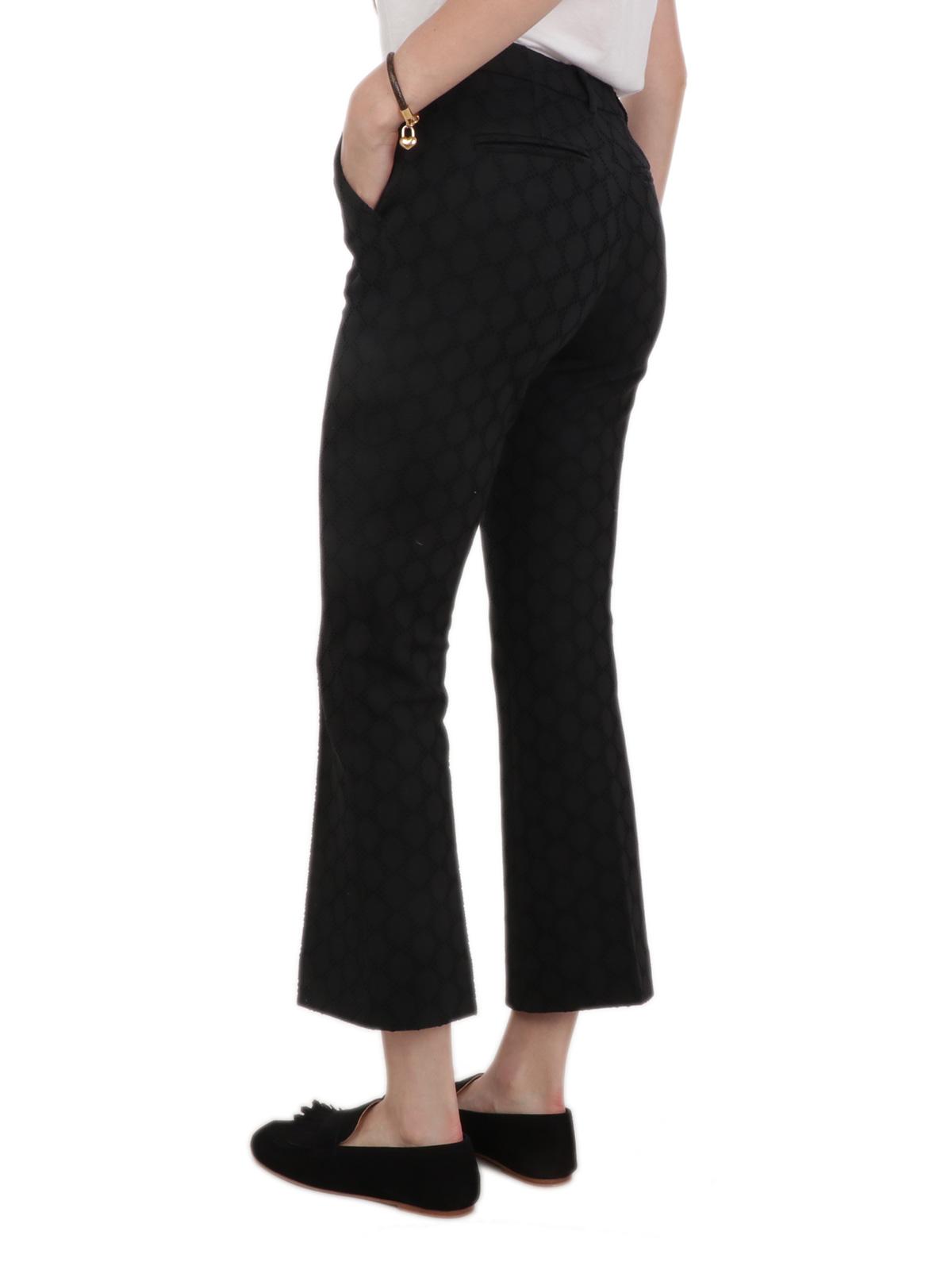 Immagine di VIA MASINI 80 | Pantalone Donna a Quadri Ricamato