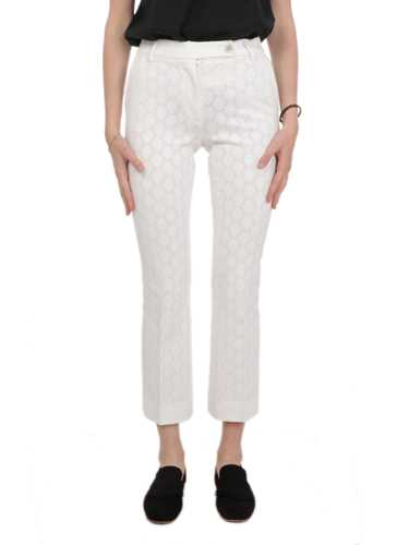 Picture of VIA MASINI 80 | Women's Checked Embroidered Pants