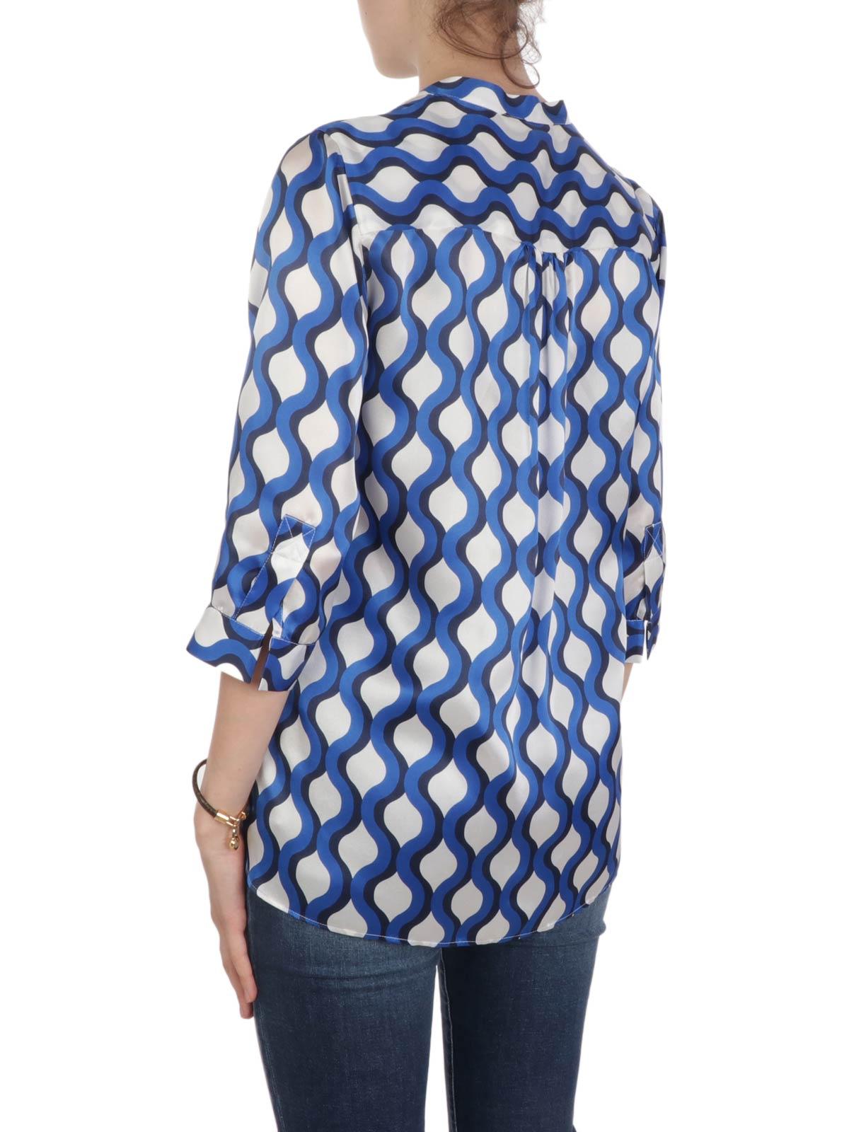 Picture of CALIBAN | Women's Fantasy Mandarin Collar Shirt