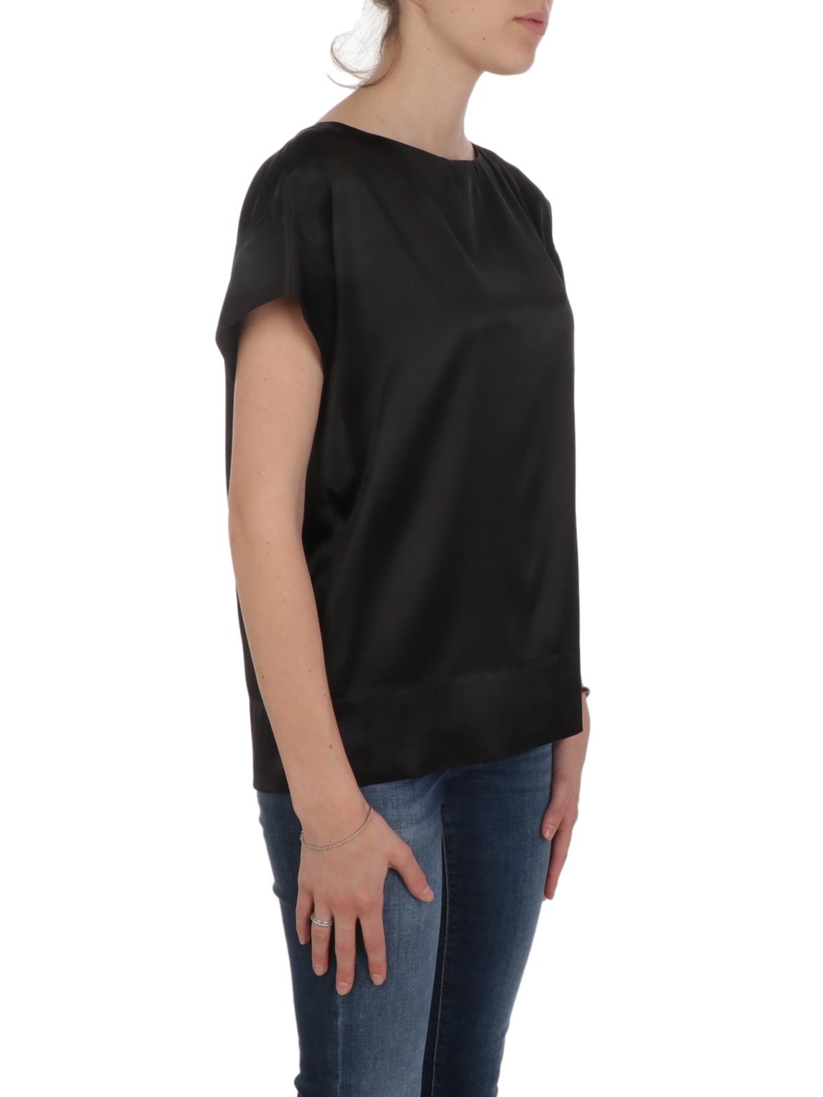 Picture of CALIBAN | Women's Wide Crewneck Silk Shirt
