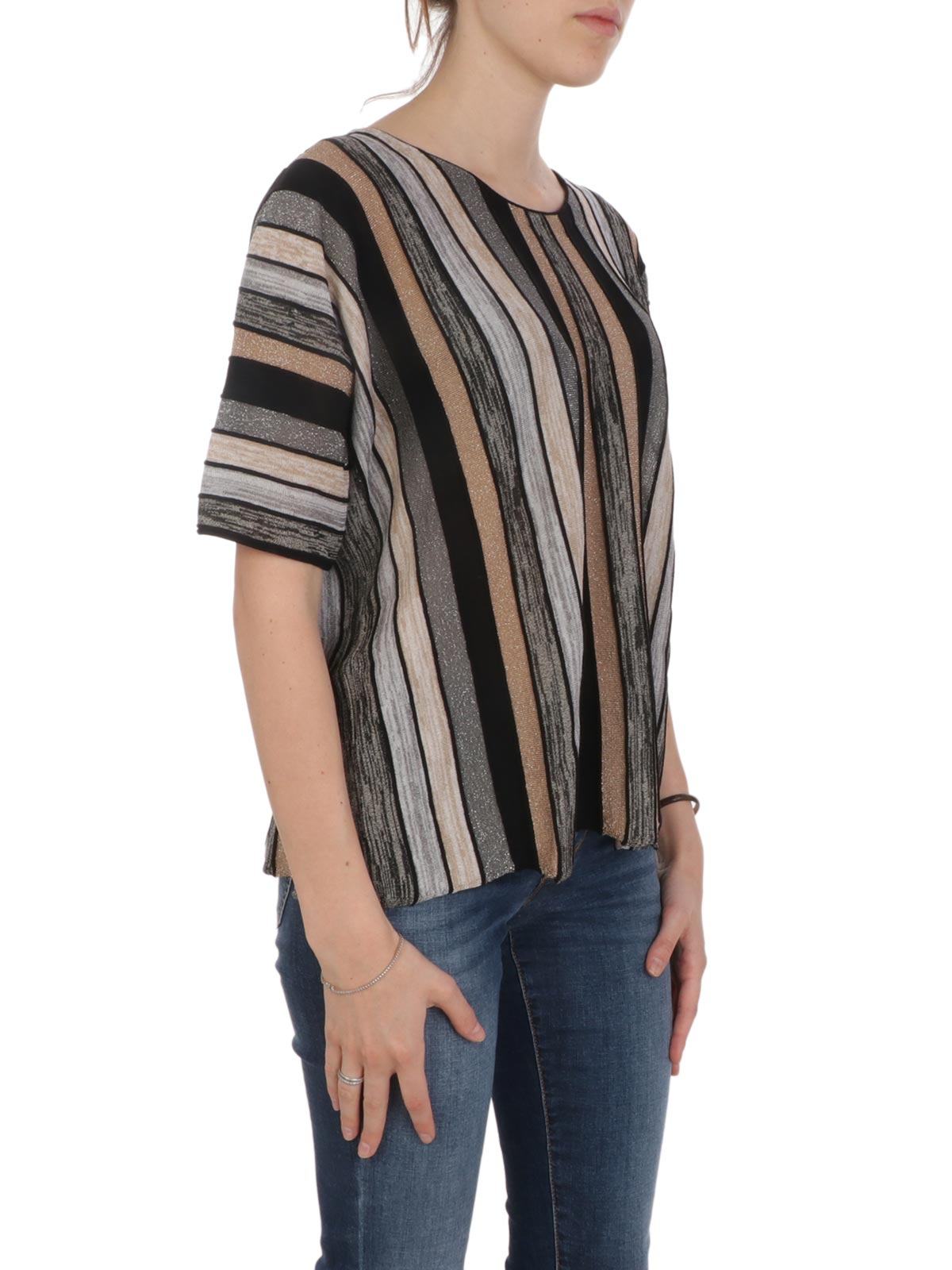Immagine di KANGRA | T-Shirt Donna Tricot a Righe