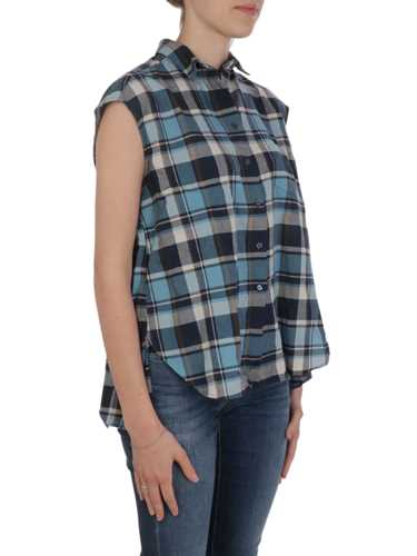 Picture of Aspesi | Shirts Madras Print Sleeveless Cotton Shirt