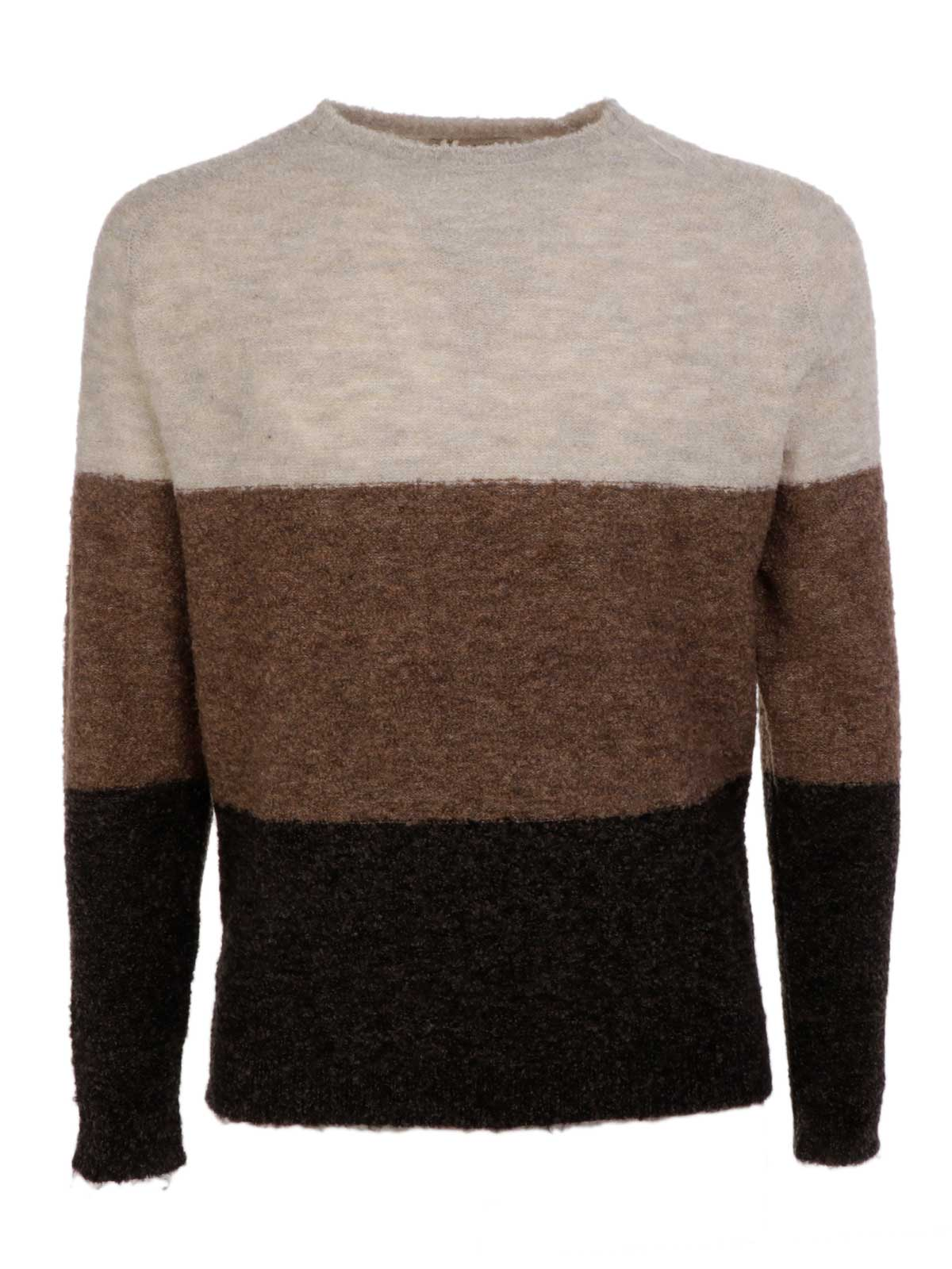 Picture of JAGGY | Men's Wool Striped Sweater