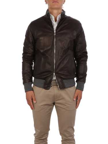 Picture of BARBA | Men's Fox Rev Leather Jacket