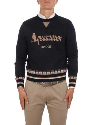Picture of AQUASCUTUM | Men's Wool Embroidered Pull