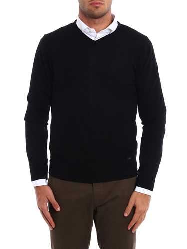 Picture of ARMANI | V-Neck Wool Sweater