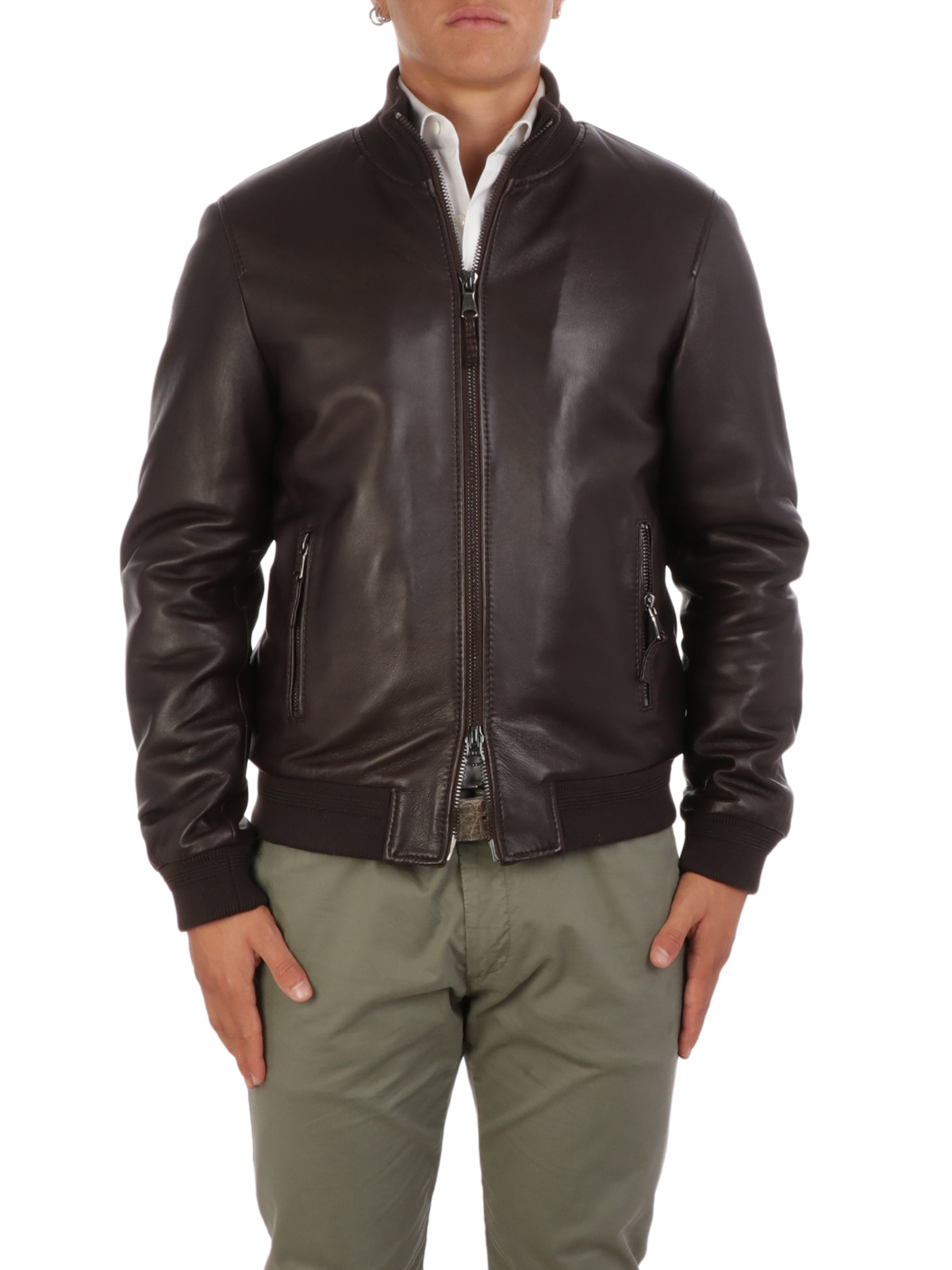 Immagine di THE JACK LEATHERS | Giacca in Pelle Uomo Derek Rib
