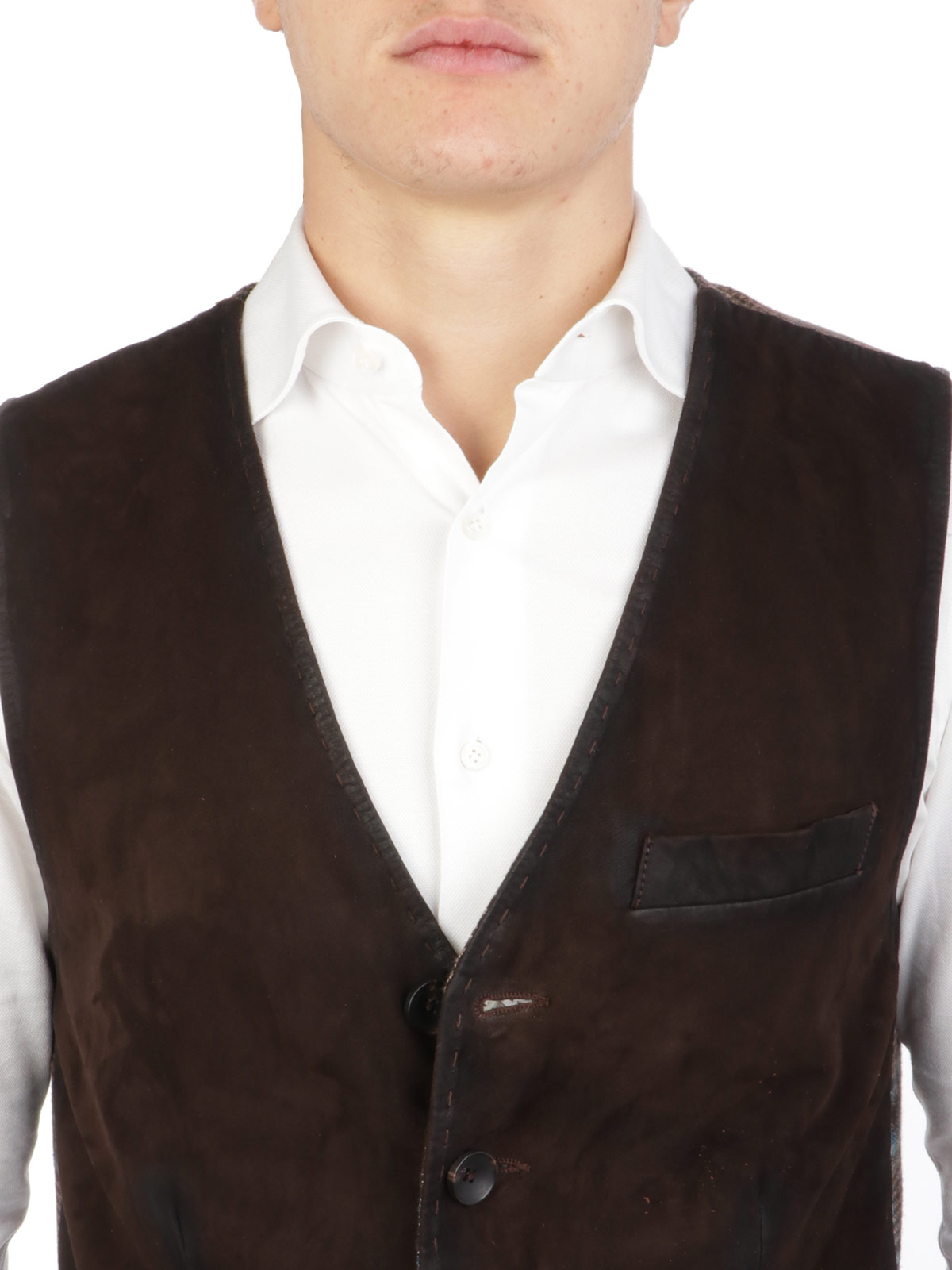 Immagine di THE JACK LEATHERS | Gilet Uomo in Suede Lorry