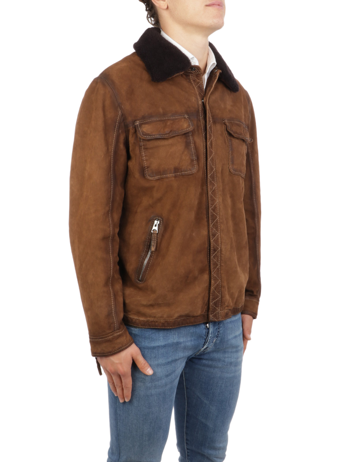 Picture of THE JACK LEATHERS | Men's Ranger Suede Jacket